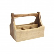 Nordic Natural 4 Compartment Table Caddy 29 x 18.5 x 22cm (LxWxH)