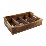 Nordic Natural Extra Large Cutlery Tray With 4 Compartments 48.5 x 31.4 x 13cm (LxWxH)