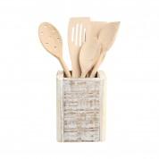 Nordic White Cutlery Box 11 x 11 x 15cm (LxWxH)