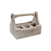 Nordic White 4 Compartment Table Caddy 29 x 18.5 x 22cm (LxWxH)