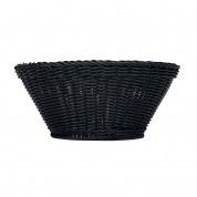 Emotion Basket Round Plastic. Black 37cm