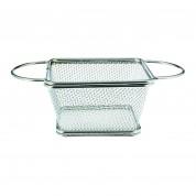 Mini 2 Handled Rectangular Basket Stainless Steel 10.5 x 8.5 x 6.5cm