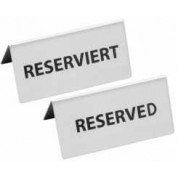 Reserved Sign 12.5 x 5.5cm Stainless Steel
