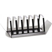 Toast Rack Stainless Steel, 6 Slot with Tray, Light
