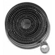Round Fluted Cutter 3cm Tin, 14 piece set, 20-105mm cutters