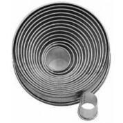 Round Plain Cutter 3cm Tin, 14 piece set, 22-113mm cutters