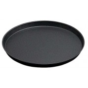 Pizza Pan 28cm Blue steel, rolled edge, Not Dishwasher Safe