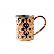 Copper Barware Dented Mug 10 x 12.6cm 42cl