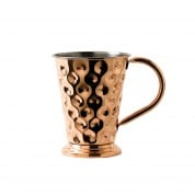 Copper Barware Dented Mug & Base 12.8 x 14cm 48cl