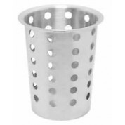Cutlery Cylinder 10 x 13.5cm Perforated, 18/10 Stainless Steel