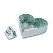 Heart cutter Set of 8, tinplate