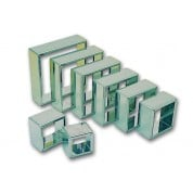 Square Plain Cutter Set of 8 Stainless Steel 40mm/50mm/60mm/70mm/80mm/90mm/100mm/110mm