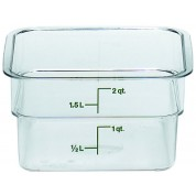 Cambro CamSquare Container 18.5 x 18.5 x 10cm Polycarbonate, 1.9 Litre