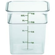 Cambro CamSquare Container 18.5 x 18.5 x 18.7cm Polycarbonate, 3.8 Litre