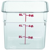 Cambro CamSquare Container 21.5 x 21.5 x 18.5cm Polycarbonate, 5.7 Litre