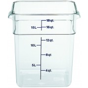 Cambro CamSquare Container 25.6 x 31 x 32cm Polycarbonate, 17.2 Litres
