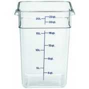 Cambro CamSquare Container 25.6 x 31 x 40cm Polycarbonate, 20.8 Litres