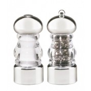 Lori Chrome Salt Shaker and Pepper Mill Set 14cm