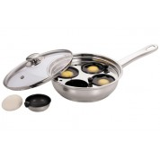 Egg Poacher Stainless steel with 4 Cups