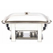 Elia Chafing Unit Rectangular Lift Lid Stainless Steel Full. Includes Lid Holder. 68 x 51 x 35cm. (LxWxH)