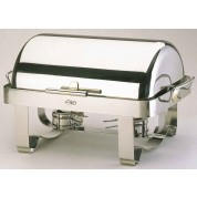Elia Chafing Unit Rectangular Roll Top. Stainless Steel. Contemporary Minimal Style. 72 x 41.5 x 40cm (LxWxH)