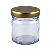 Round Mini Jar With Gold Lid 4.8 x 4.2cm (HxDia) 4.3cl
