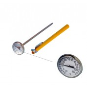 Dial Probe Thermometer -10C to 100C 25mm Dial Size, 130mm Stainless Steel Stem