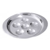 Snail Plate 12 Hole 18cm 18/0 Stainless Steel(for reference only)