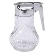 Cream/Honey Pourer Glass Chrome Plastic Top and Handle 25cl