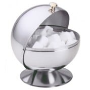 Roll top sugar bowl 13 x 14.5cm, Stainless Steel