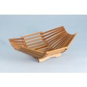 Oriental Range Bamboo Basket 21x19cm