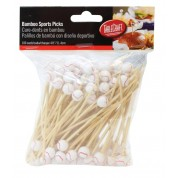 Disposable Bamboo Sport Picks American Baseball 11.5cm (Pack of 100)