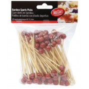 Disposable Bamboo Sport Picks American Basketball 11.5cm (Pack of 100)