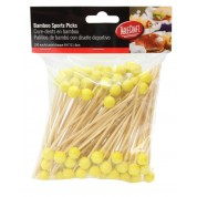 Disposable Bamboo Sport Picks American Tennis 11.5cm (Pack of 100)