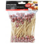 Disposable Bamboo Sport Picks American Football 11.5cm (Pack of 100)