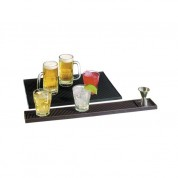 Bar Mat- Black 45x30cm