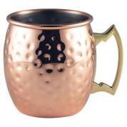 Barrel Copper Mug Hammered 40cl