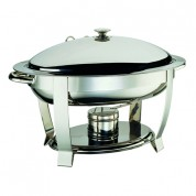 Elia Chafing Unit Oval Lift Lid Stainless Steel. Heavy Duty. Includes Lid Holder. 56  x 49 x 35cm (WxDxH) 4.5 Litre