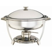Elia Chafing Unit Round Lift Lid Stainless Steel. Heavy Duty. Includes Lid Holder. 47 x 51 x 35cm (WxDxH) 5 Litre