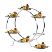 Ferris Wheel Food Stand  and 6 Stainless Steel Plates 37x17x31cm