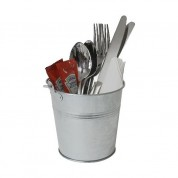 Serving Bucket 12cm Galvanised Steel