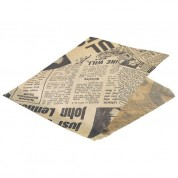 Presentation Bags Brown Printed Pack Of 1000 Bags 17.5 x 17.5cm