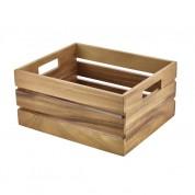 Acacia Wood Box/Riser 32.5 x 26.5 x 15.3cm