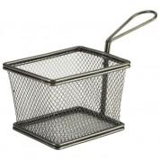 Black Serving Fry Basket Rectangular 12.5 x 10 x 8.5cm