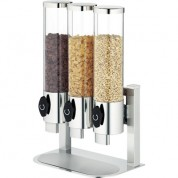 Hepp Arte Triple Cereal Dispenser In-line 18/0 Stainless Steel 38.7 x 24.7 x 60cm (LxWxH) 3.5 Litre