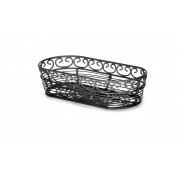 Mediterranean Collection Black Oblong Basket 23 x 10 x 5cm