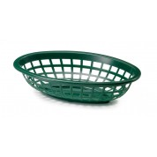 Forest Green Oval Basket 24 x 15 x 4.5cm