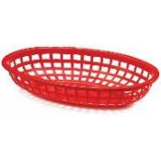 Red Oval Basket 24 x 15 x 4.5cm