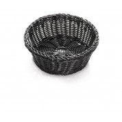 Handwoven Ridal Collection Black Round Basket 21 x 8cm