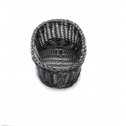 Handwoven Ridal Collection Black Oval Basket 23.5 x 16 x 8cm